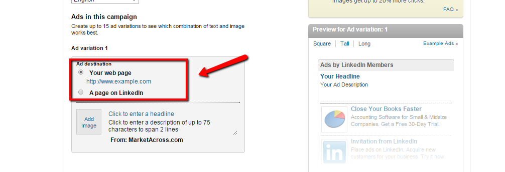 Linkedin_Marketing_- Creating an ad